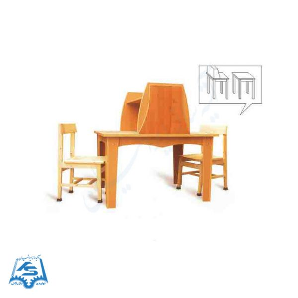 میز و صندلی مطالعه حائل دار