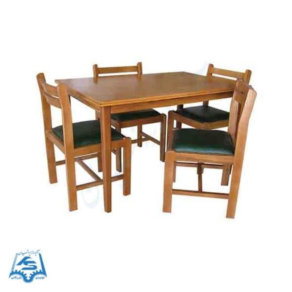 میز و صندلی مطالعه چهار نفره