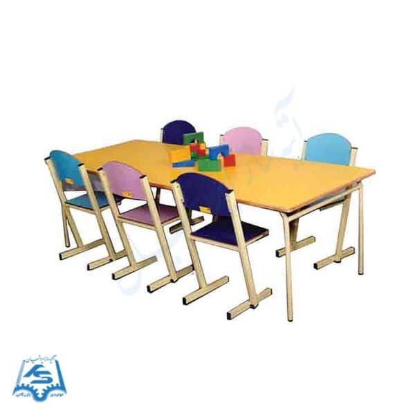 میز و صندلی پیش دبستانی مستطیل